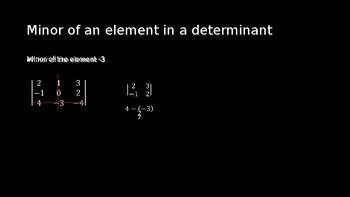 Expansions of Determinants by Minors - PowerPoint Lesson (11.6)