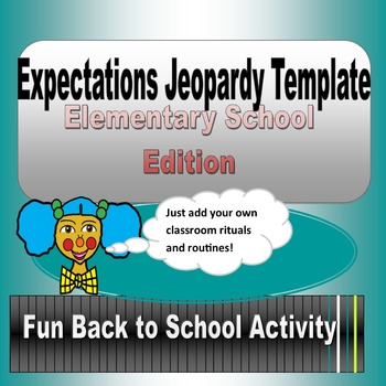 Expectatinons Jeopardy PowerPoint Template for Elementary Grades