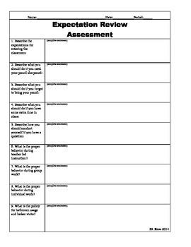Expectation Assessment
