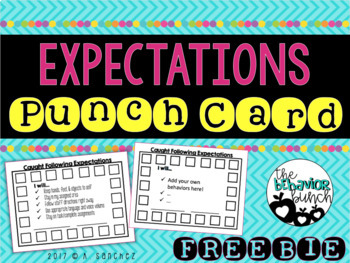 Expectation Punch Card [FREEBIE]