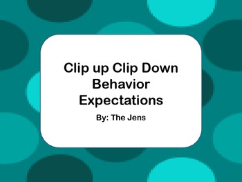 Expectations Based Behavior Management - Polka Dot