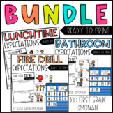 Expectations Bundle (Bathroom, Lunchtime, & Fire Drill)