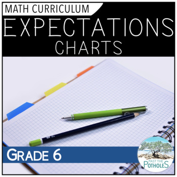 Expectations Charts for all Grade 6 Math Units - Ontario C