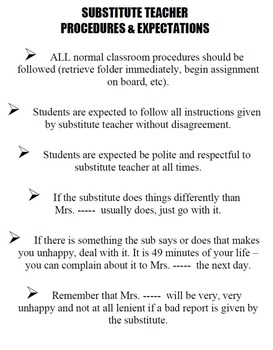 Expectations Handouts