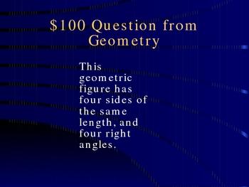 Expectations in Algebra 2 Jeopardy