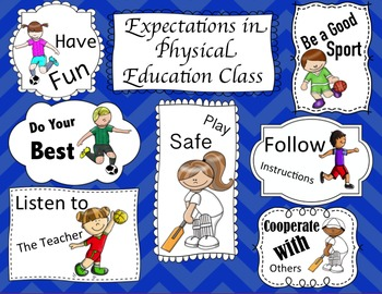 Physical Education Expectations Back To School