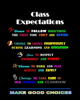 Expectations: Make Good Choices Themed