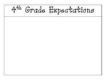 Expectations Rubric