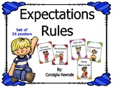Expectations and Rules Posters/Charts to support Classroom