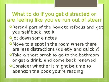 Expectations for Reading Workshop