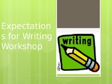 Expectations for Writer's Workshop