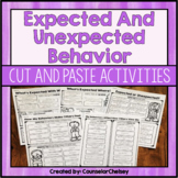 Expected And Unexpected Behavior Cut and Paste Activities