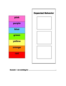 Expected Behavior Chart: For use at home or at school