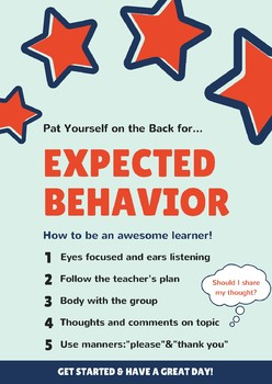Expected Behavior in and out of the Classroom