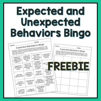 Expected Behaviors Bingo