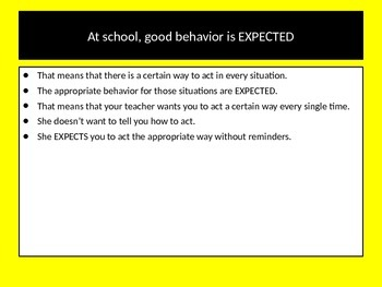 Expected Behaviors, How We are Supposed to Act at School Social Story