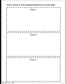 Expected Behaviors and Think Over Sheets