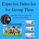 Expected Behaviors for Group Time; Circle Time; Group Rules