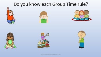 Expected Behaviors for Group Time with Paw Patrol; Rules for Group Time