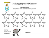 Expected Choices Work Completion Reward Point Sheet