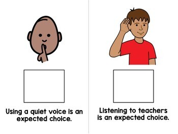 Expected Choices at School Adapted Book - Special Education