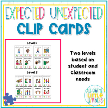 Expected Choices vs. Unexpected Choices Clip Cards - Special Education