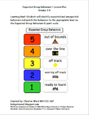 Expected Group Behaviors Lesson Plan Grades 3-5