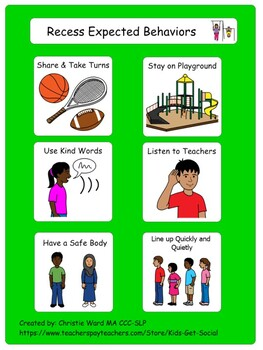 Expected Recess Behaviors