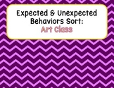 Expected & Unexpected Behavior File Folder- Art Class