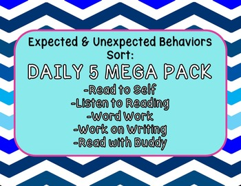 Expected & Unexpected Behavior File Folder- DAILY 5 MEGA PACK!