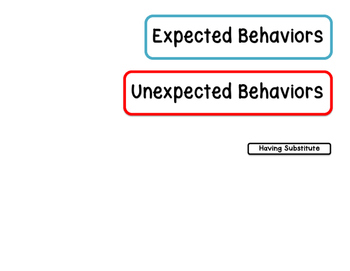 Expected & Unexpected Behavior File Folder- Having a Substitute Teacher