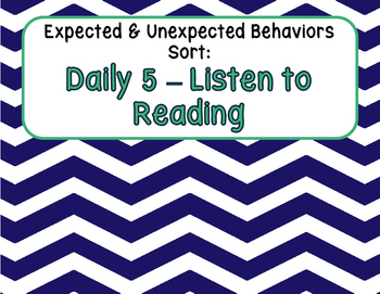 Expected & Unexpected Behavior File Folder- Listen to Reading {Daily 5}