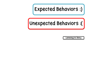 Expected & Unexpected Behavior File Folder- - Listening to a Story