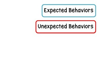 Expected & Unexpected Behavior File Folder- Meeting a New Person