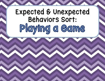 Expected & Unexpected Behavior File Folder- Playing a Game