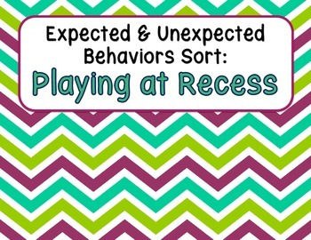 Expected & Unexpected Behavior File Folder- Playing at Recess