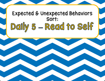 Expected & Unexpected Behavior File Folder- Read to Self {Daily 5}
