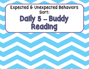 Expected & Unexpected Behavior File Folder- Read with a Partner {Daily 5}
