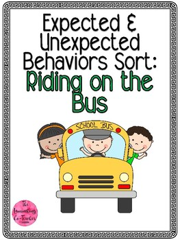 Expected & Unexpected Behavior File Folder- Riding on the Bus