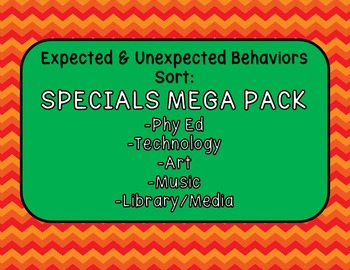 Expected & Unexpected Behavior File Folder-Specials MEGA Pack!