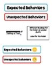 Expected & Unexpected Behavior File Folder- Taking a Test