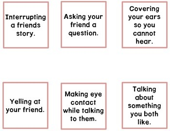 Expected & Unexpected Behavior File Folder- Talking to Friends