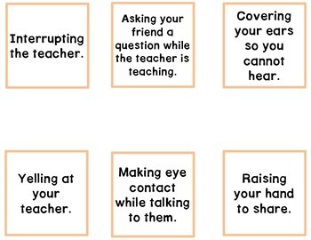 Expected & Unexpected Behavior File Folder- Talking to Teachers