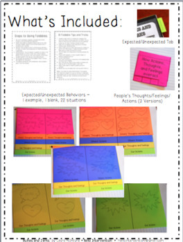 Social Skills Interactive Notebook (Expected/Unexpected Behaviors)