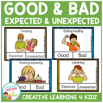Behaviors Expected & Unexpected - Good & Bad Clip Cards