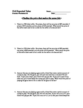 Worksheets Expected Value Worksheet expected value worksheet getadating pictures getadating