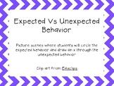 Expected Vs. Unexpected Behavior Picture Scenes
