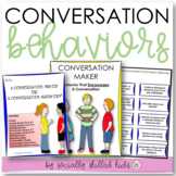 SOCIAL SKILLS ACTIVITIES Conversation Behaviors {Differentiated For k-5th Grade}