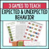 Expected and Unexpected Behavior Games