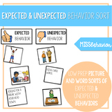 Expected and Unexpected Behavior Sort | Social Emotional Task Box